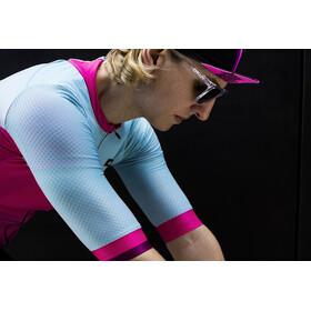 Biehler Pro Team - Maillot manches courtes Femme - rose/turquoise